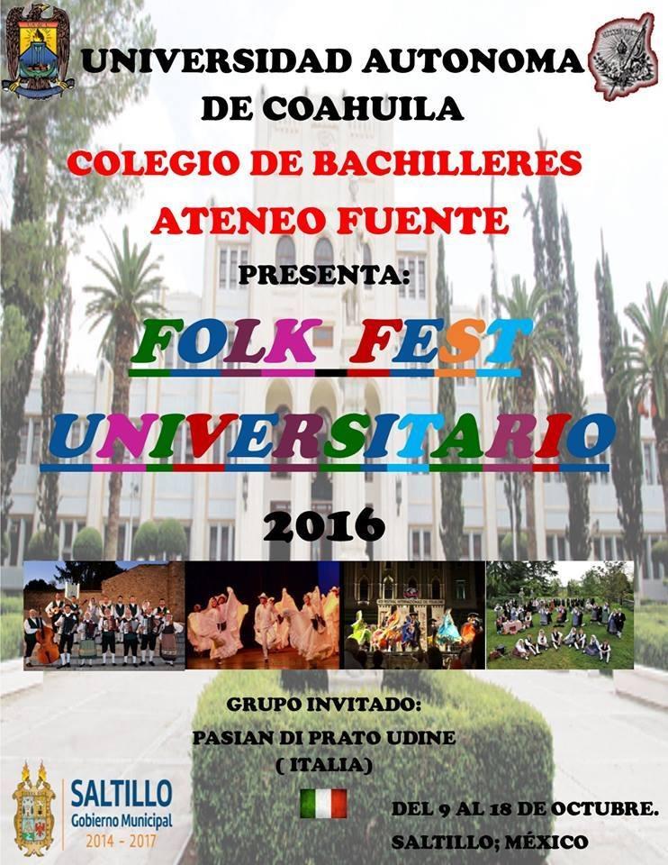 """""""-12 ore dalla partenza per il Messico, dove saremo il gruppo ospite del Folk Fest Universitario di Saltillo, nello stato di Coahuila, regione settentrionale al confine con il Texas!"""""""